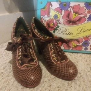 EUC Anthro Poetic License Backlash Tuscany Shoes